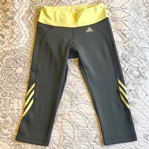 Adidas Climacool 3-Stripe Capri Pants Grey Legging